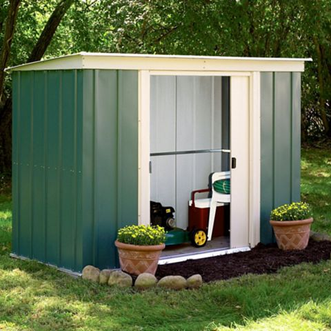 Greenvale 8X4 Pent Metal Shed - Assembly Required