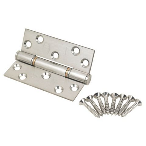 Satin Stainless Steel Grade 13 Thrust Hinges (L)102mm, Pack of 2