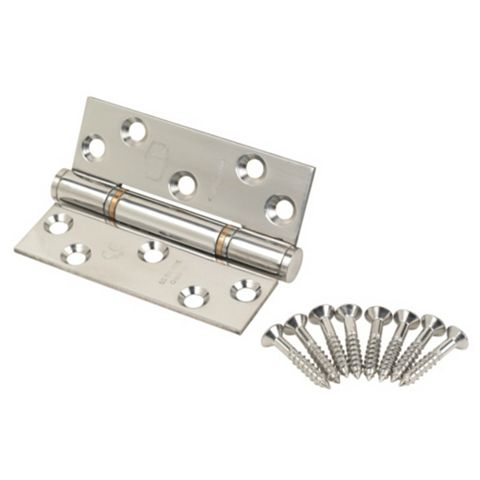 Polished Stainless Steel Grade 13 Thrust Hinges (L)102mm, Pack of 2