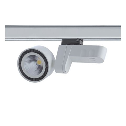 Luceco White LED Track Spotlight, 24.2W