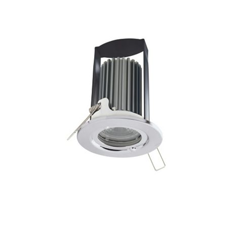 Chrome Effect Steel LED Downlight