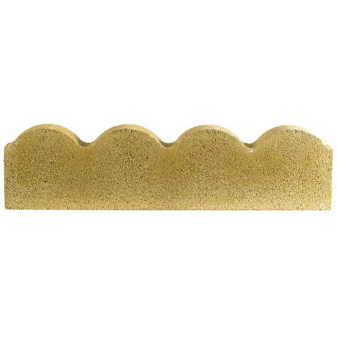 Traditional Scalloped Paving Edging Buff, (L)600mm (H)150mm (T)50mm