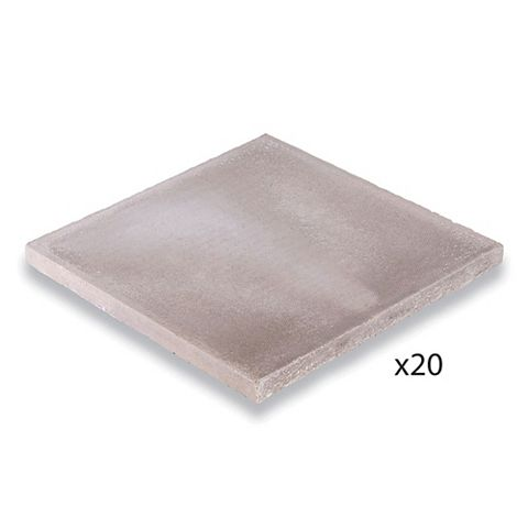 Bradstone Peak Smooth Grey Paving Kit, 600 x 600mm 7.2m², Pack of 20