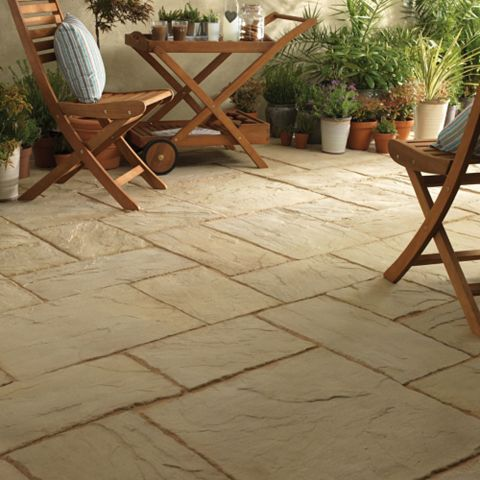 Ancestry Reconstituted Stone Paving Slab, 5 m², (L)300mm (W)300mm (T)35mm