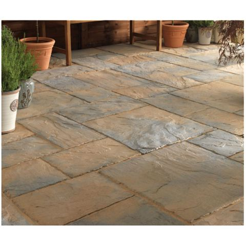 Ancestry Reconstituted Stone Paving Slab, 7.02 m², (L)600mm (W)450mm (T)35mm