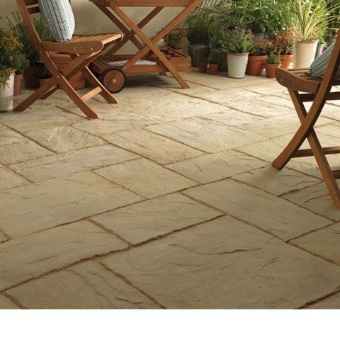 Ancestry Reconstituted Stone Paving Slab, 9.30 m², (L)600mm (W)600mm (T)35mm