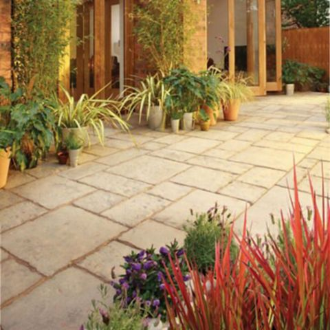 Bradstone Old Town Riven Weathered Limestone Paving Kit, 450 x 450mm 10.2m², Pack of 1