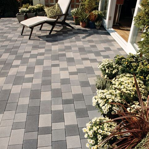 Light Grey Stonemaster Mixed Size Block Paving, Pack of 400, 10.20 m²