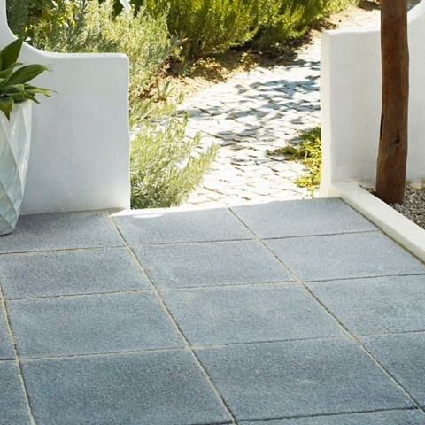 Dark Grey Textured Single Paving Slab (L)600mm (W)600mm