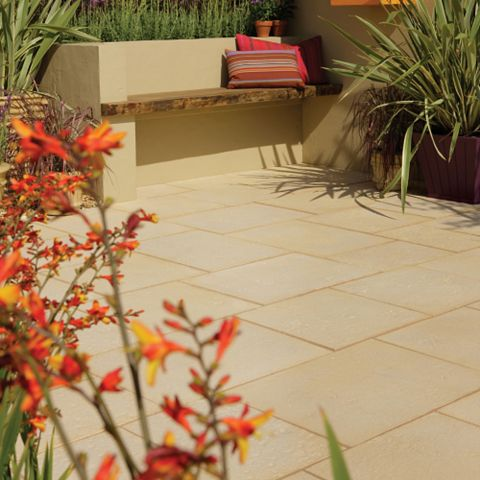 Bradstone Traditional Natural Limestone Mixed Size Paving Pack, 12.96 m²