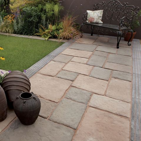 Bradstone Reconstituted Stone Mixed Size Paving Pack, 10.9 m²
