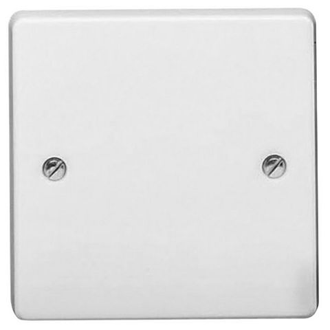 Crabtree 1-Gang Single White Plastic Blanking Plate