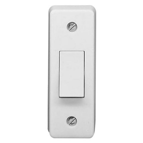 Crabtree 10AX 2-Way Single White Single Architrave Light Switch