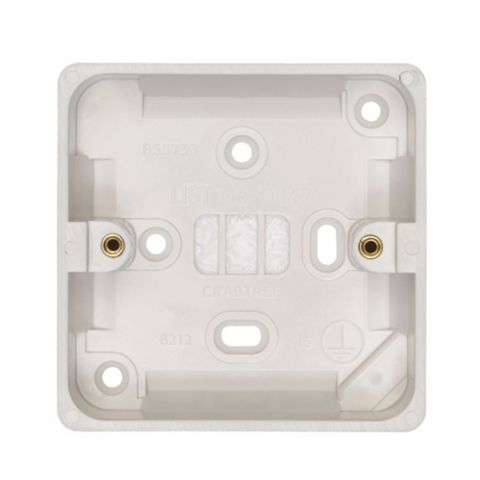 Crabtree 29mm Plastic Single Pattress Box