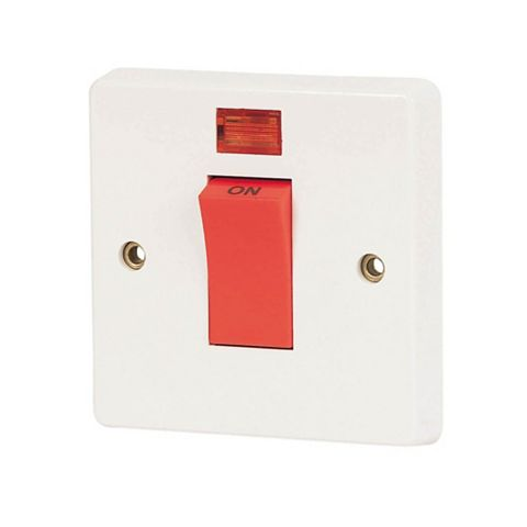 Crabtree 1-Gang 20A White Rocker Switch