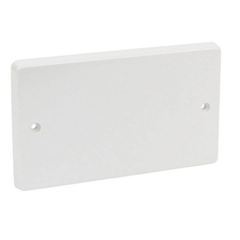 Crabtree 2-Gang White Plastic Blanking Plate