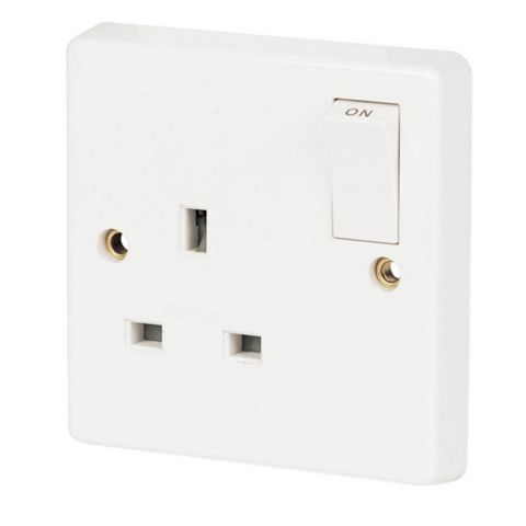 Crabtree Socket, White - 1 13A
