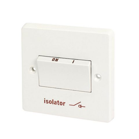 Crabtree 1-Gang 6A White Fan Isolator Switch