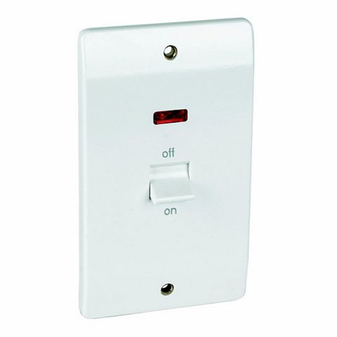 MK 2-Gang 45A Cooker Switch