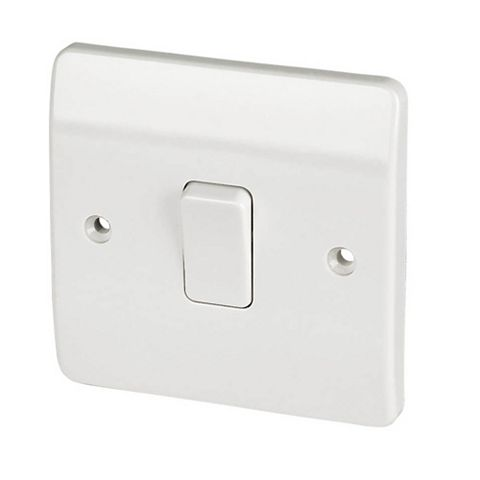 MK 1-Gang 2-Way 10AX White Switch