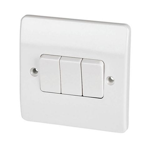 MK 3-Gang 2-Way 10AX White Switch