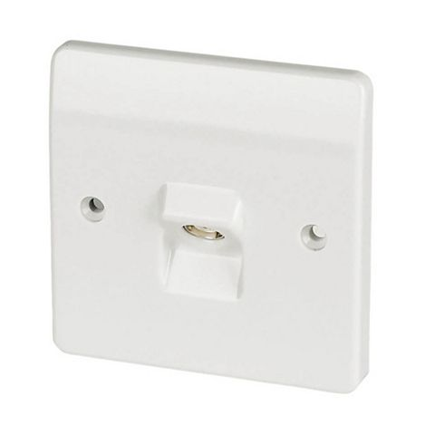 MK Low Profile White Coaxial Socket