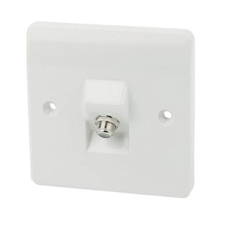 MK Low Profile White F-Type Socket