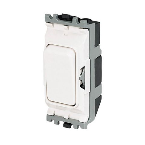 MK 1-Gang 1-Way 20A White Switch Module