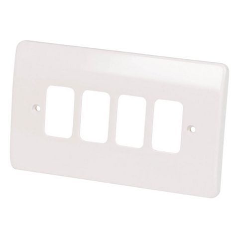 MK 4-Gang White Cover Plate