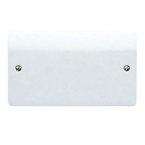 MK 2-Gang Double White Thermoset Blanking Plate