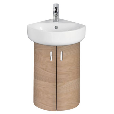 Ideal Standard Imagine Compact Oak Effect Vanity Corner Unit, Basin & Mixer Pack