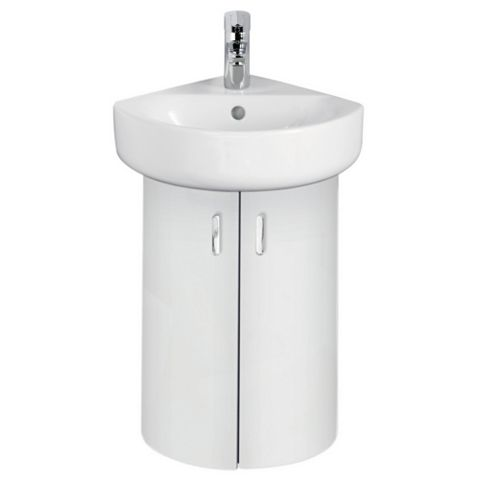 Ideal Standard Imagine Compact White Vanity Corner Unit, Basin & Mixer Pack