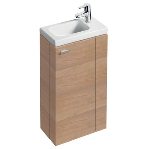 Ideal Standard Imagine Compact Oak Effect Vanity Unit, RH Basin & Mixer Pack