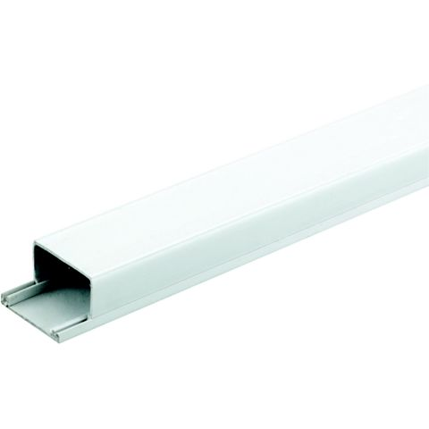 Tower White Mini Trunking, 38mm x 2m