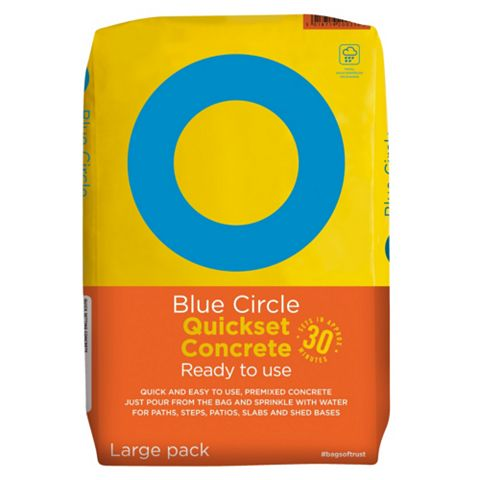 Blue Circle Ready to Use Quick Set Concrete Grey 20 kg Bag
