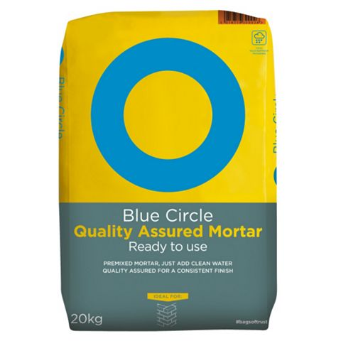 Blue Circle Ready to Use Quality Assured Mortar Grey 20 kg Bag