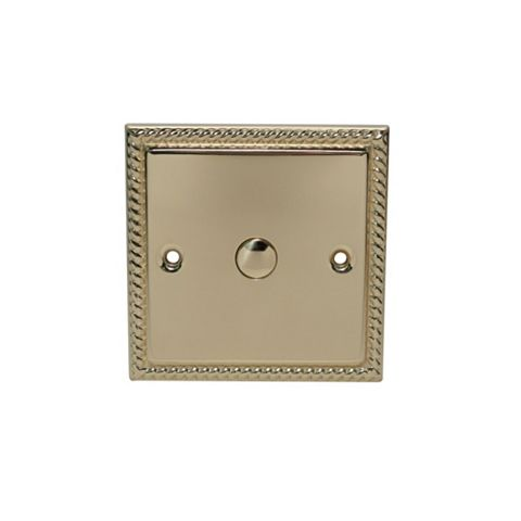 Volex 1-Gang 1-Way Brass Effect Single Touch Dimmer Switch