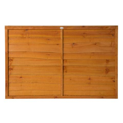 Traditional Overlap Fence Panel (W)1.83m (H)1.22m