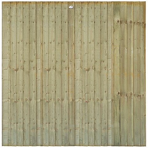 Professional Feather Edge Fence Panel (W)1.83m (H)1.5m