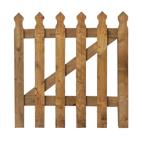 Grange Timber Palisade Gate (H)900mm (W)900mm