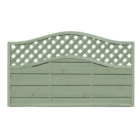 Woodbury Lattice Top Fence Panel (W)1.8m (H)1.05m, Pack of 3