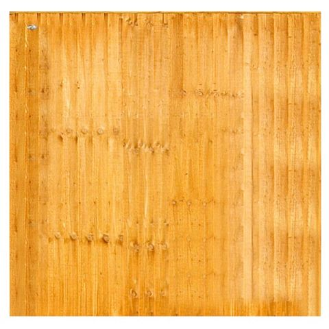 Grange Feather Edge Overlap Fence Panel (W)1.83 M (H)1.5 M, Pack of 4