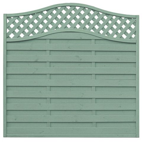 Woodbury Lattice Top Fence Panel (W)1.8m (H)1.8m, Pack of 3