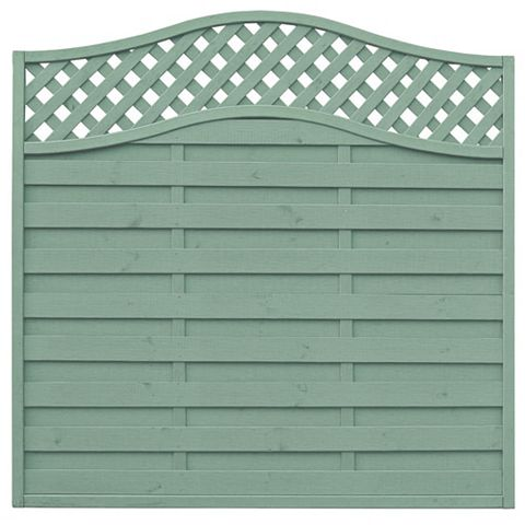 Woodbury Lattice Top Fence Panel (W)1.8m (H)1.8m, Pack of 5