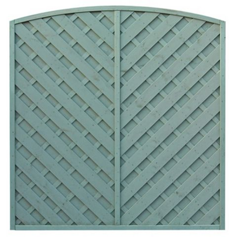 St Lunair Arched Fence Panel (W)1.8m (H)1.8m, Pack of 4