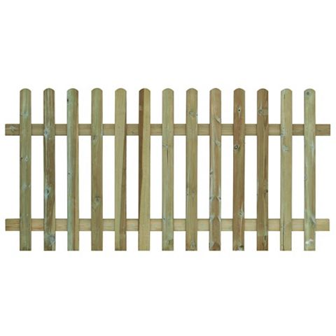 Traditional Round Top Picket Fence (W)1.8m (H)1.2m, Pack of 4
