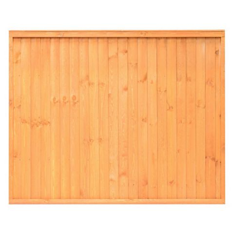 Close Board Traditional Fine Sawn Vertical Slats Fence Panel (W)1830mm (H)1800mm, Pack of 4