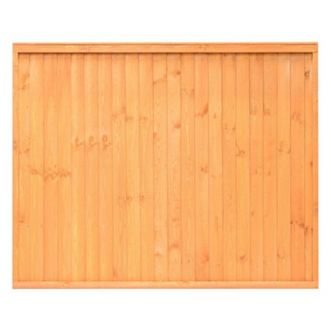 Close Board Traditional Fine Sawn Vertical Slats Fence Panel (W)1830mm (H)1500mm, Pack of 4