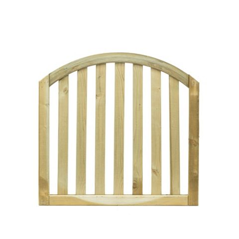 Grange Planed Timber Dome Gate (H)900mm (W)900mm