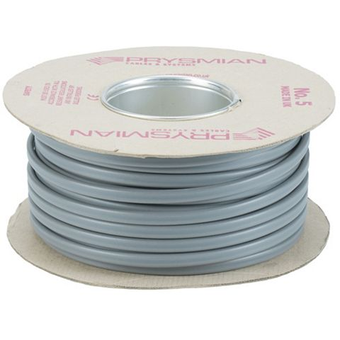 Prysmian 2.5mm² Twin & Earth Cable, Grey 50m